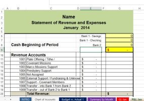 Free Nonprofit and Church Accounting Spreadsheets