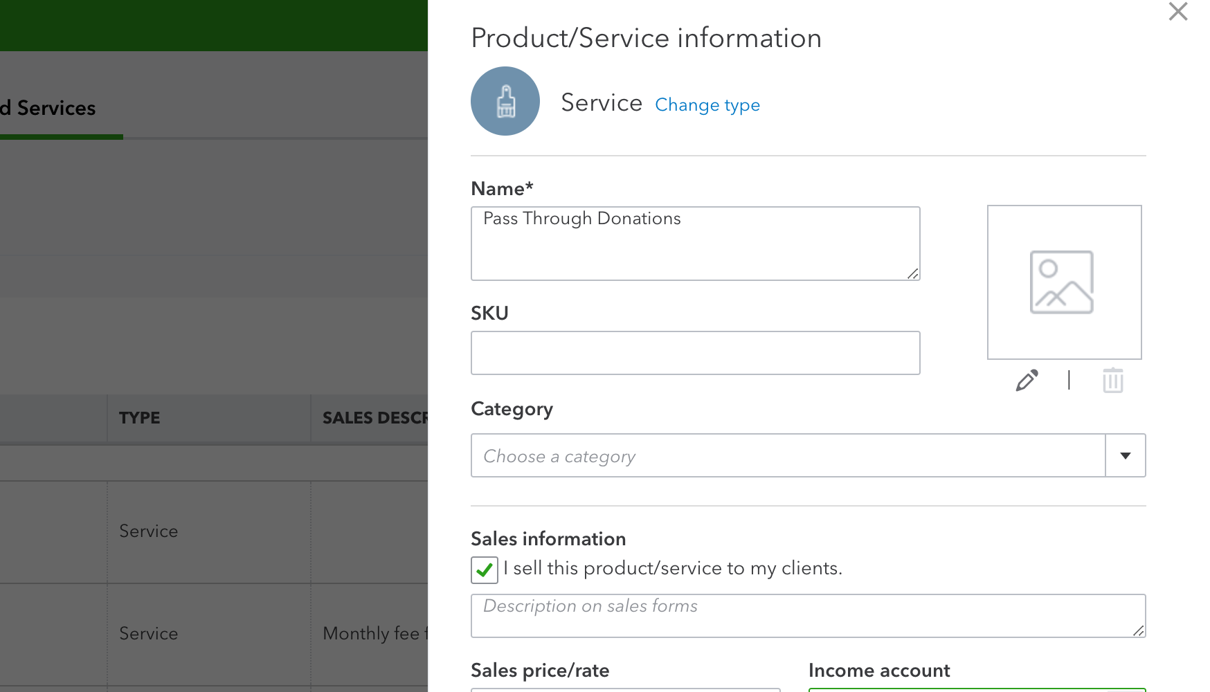 Using quickbooks for a church or nonprofit similar then choose which income account you want to link to outreach or pass through funding or something similar note if you are using the fandeluxe Images